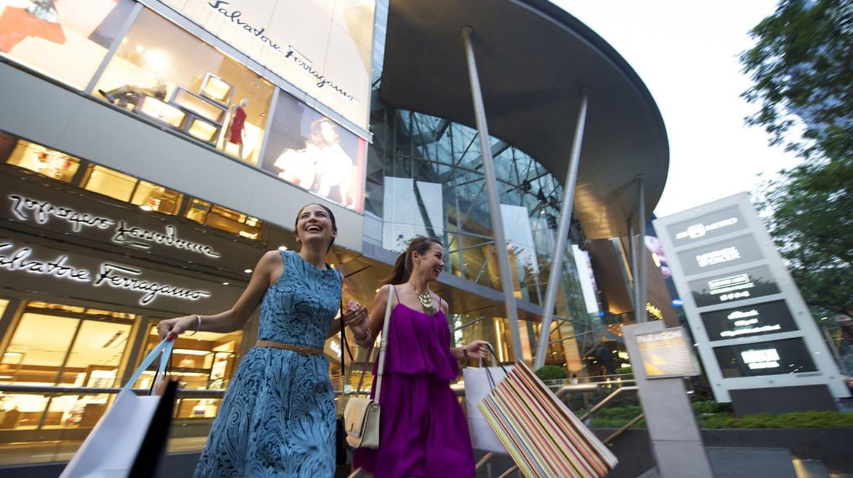 Shopping along Orchard Road