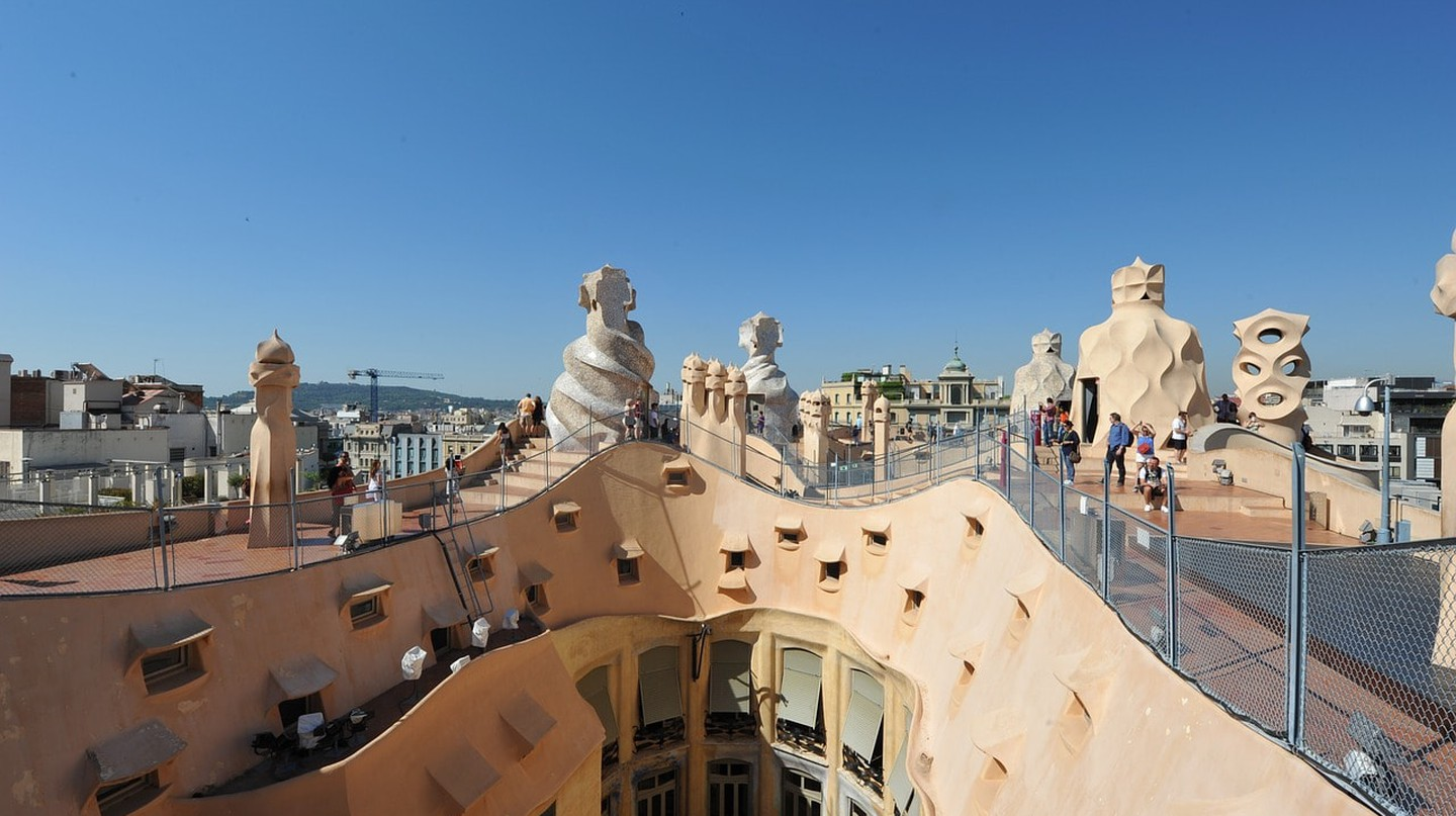 The Casa Milà seen from above CC0 Pixabay