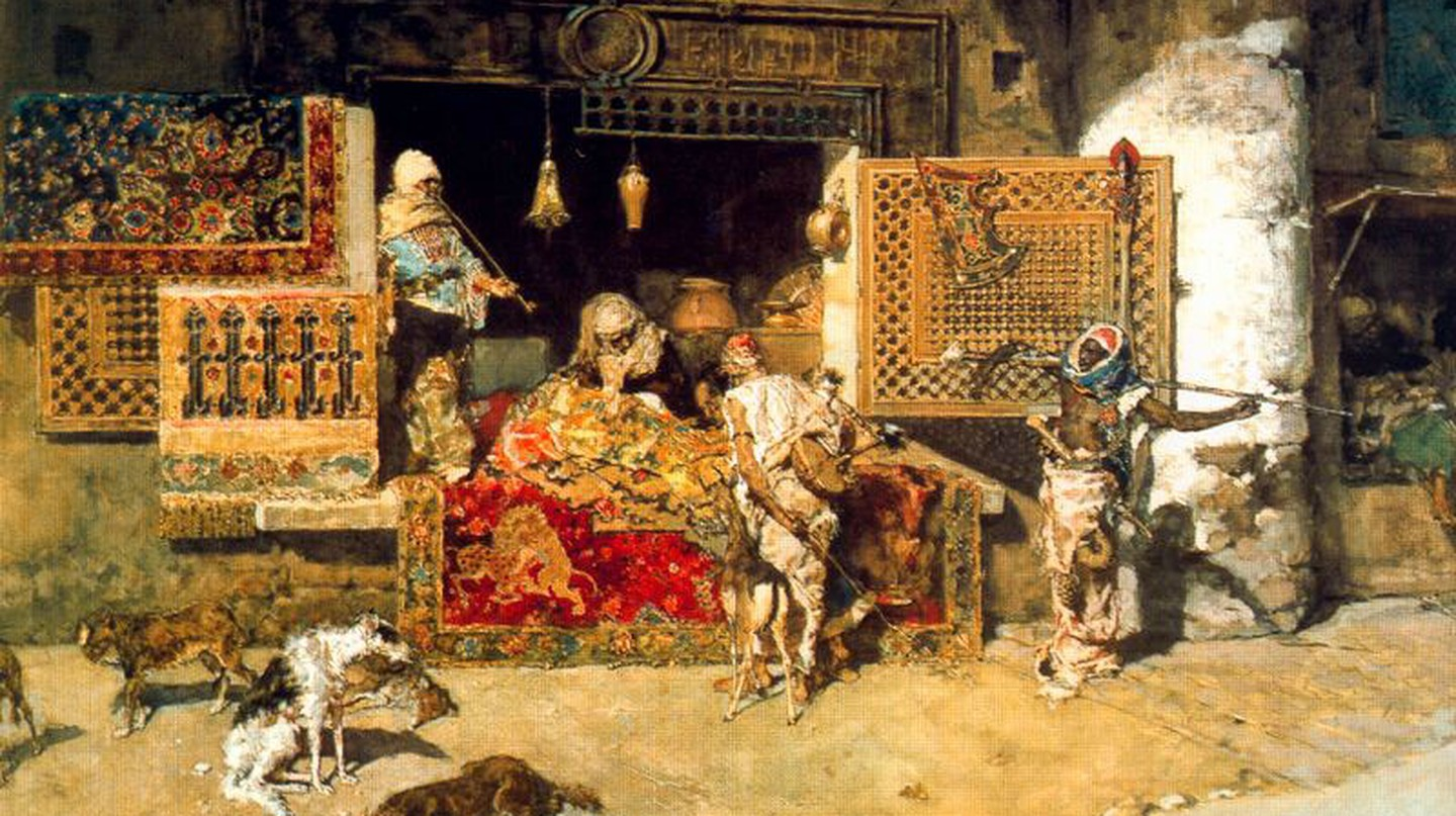 The Tapestry Seller by Fortuny |©WikiCommons