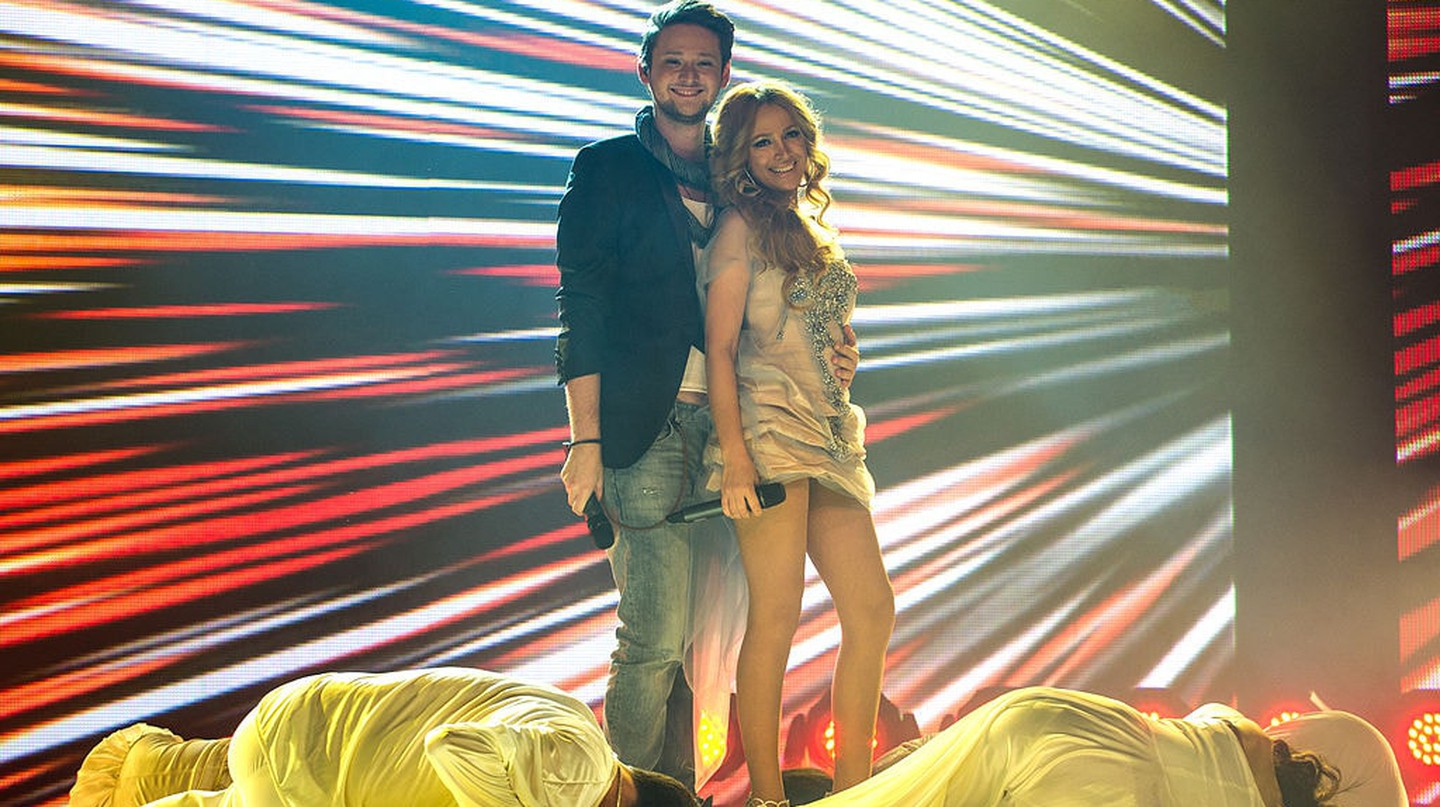 Ell & Nikki during the 2012 Eurovision Semi-Final | © Vugarİbadov/WikiCommons