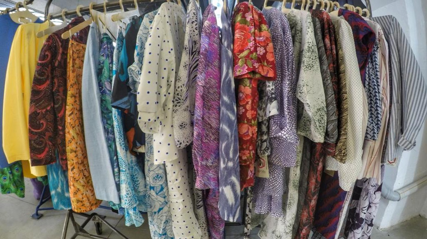 Clothes at Flying Painter in Fabrika Tbilisi | © Baia Dzagnidze