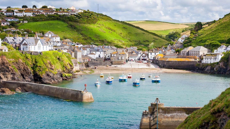 The fishing village of Port Isaac, on the North Cornwall Coast, England UK