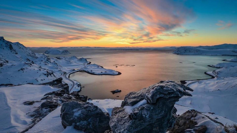 Magical sunsets at Sarnesfjord