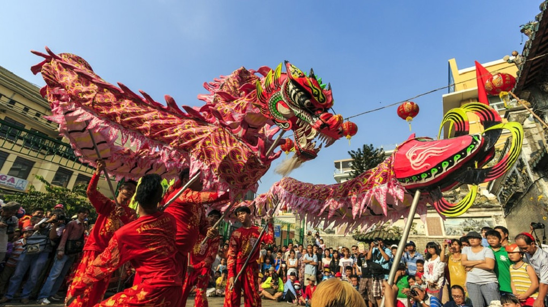 Lion dancers for Tết  holiday | © Saigoneer/Shutterstock