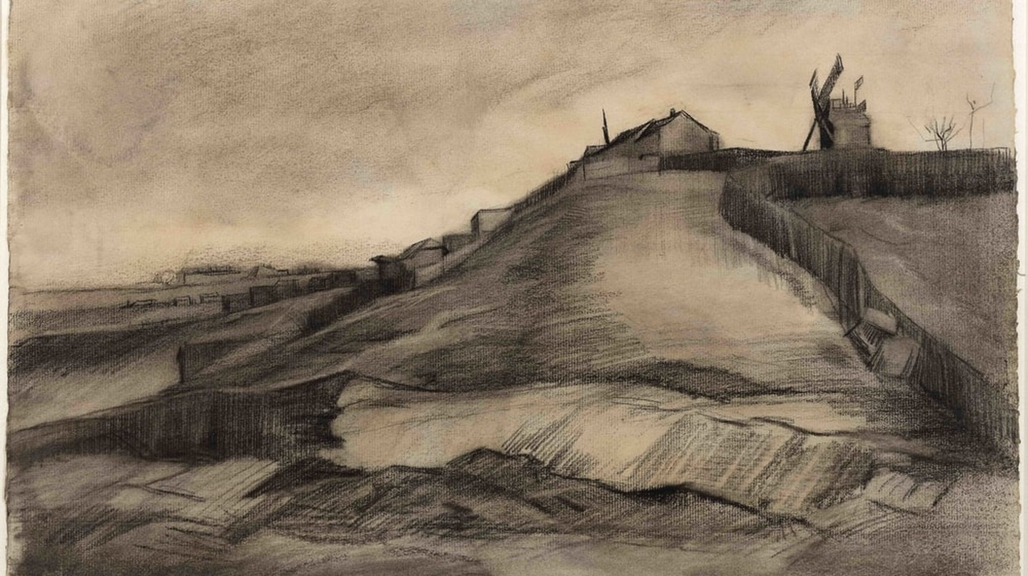 Vincent van Gogh, The hill of Montmartre with stone quarry, March 1886 | Courtesy Singer Laren Museum