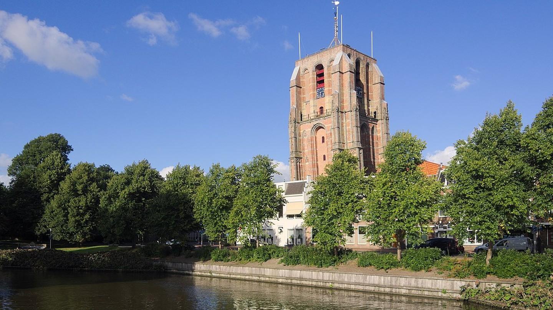 Oldehove tower in Leeuwarden