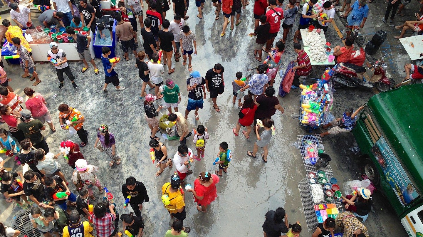 Songkran water fights at Silom | © James Antrobus / Flickr