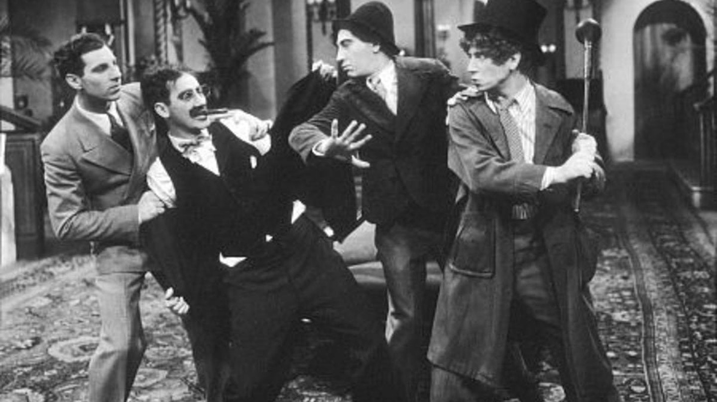 Zeppo, Groucho, Chico, and Harpo Marx in 'The Cocoanuts' | © Paramount Pictures