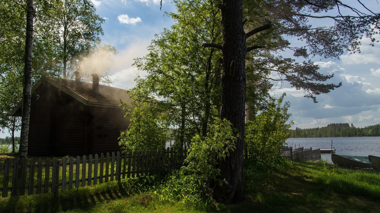 Smoke sauna at Kunnonpaika