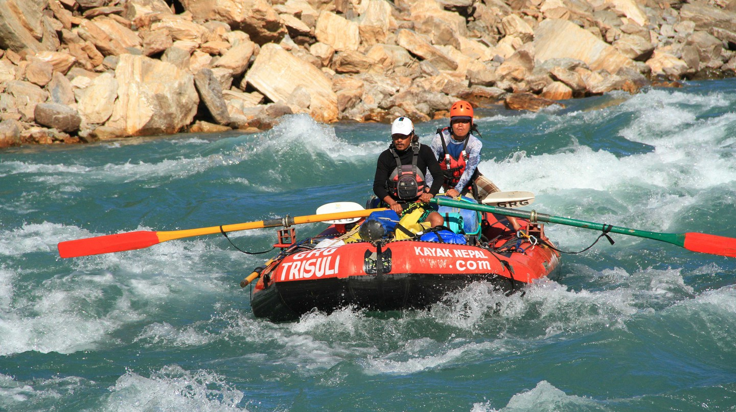 Rafting on the Karnali River | Courtesy of GRG's Adventure Kayaking