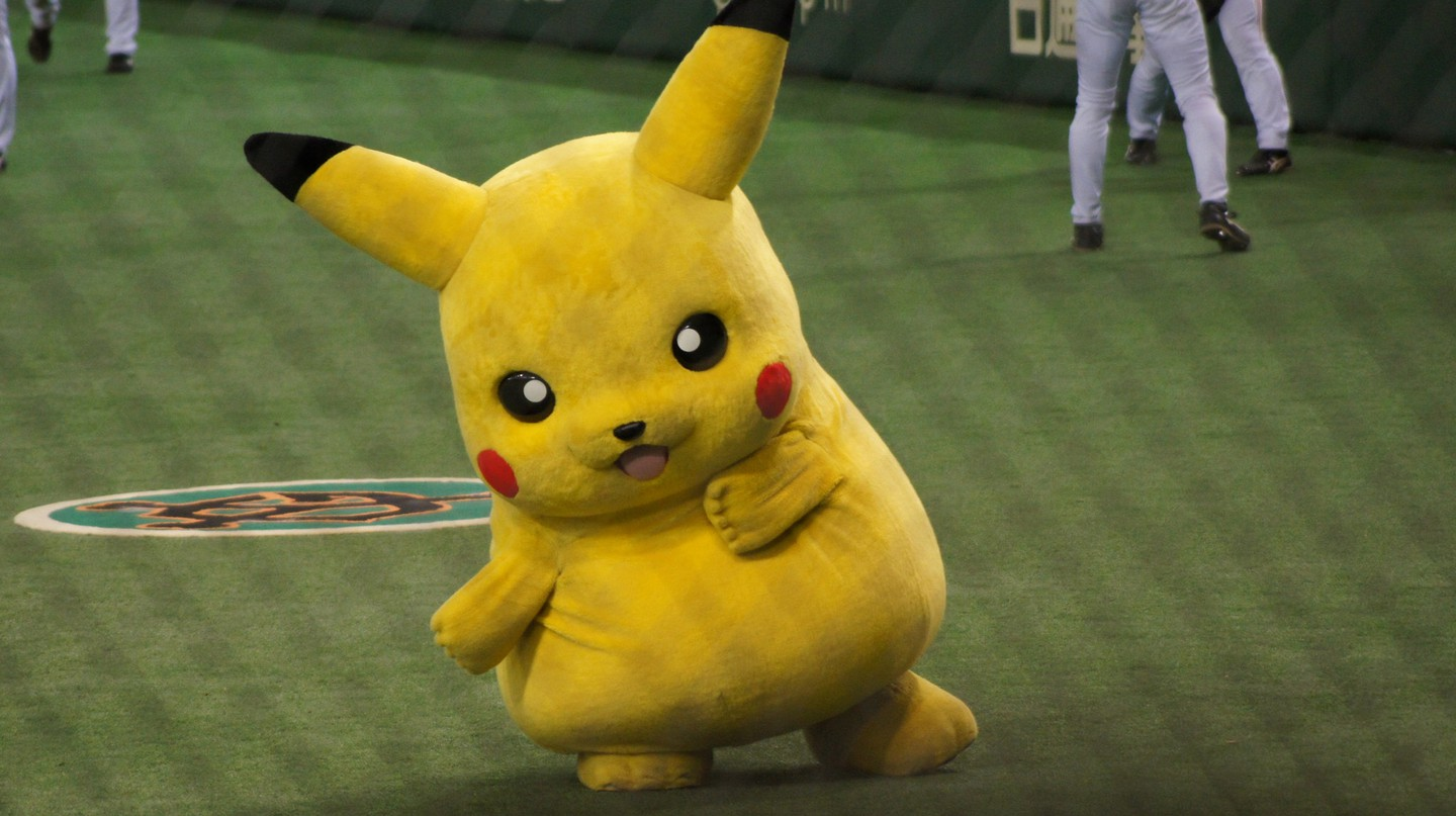 Though not a baseball mascot, Pikachu has been known to show up at games