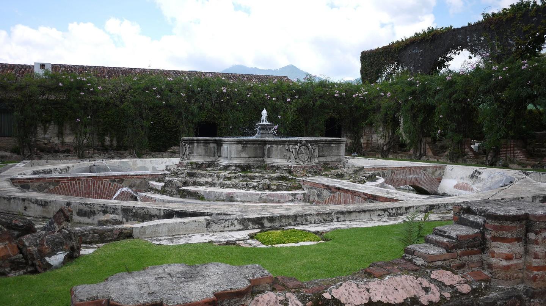 Ruins in the grounds of Hotel Santo Domingo, Antigua, Guatemala