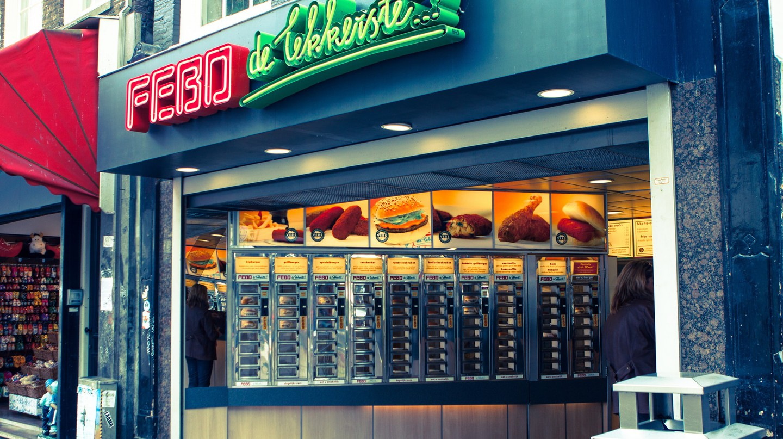 FEBO fast-food vending machine, Amsterdam