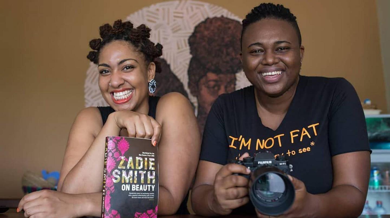 Afrolitt' founder Pamela Ohene-Nyako and Ghanaian photographer Josephine Kuuire |© Nii Odzenma