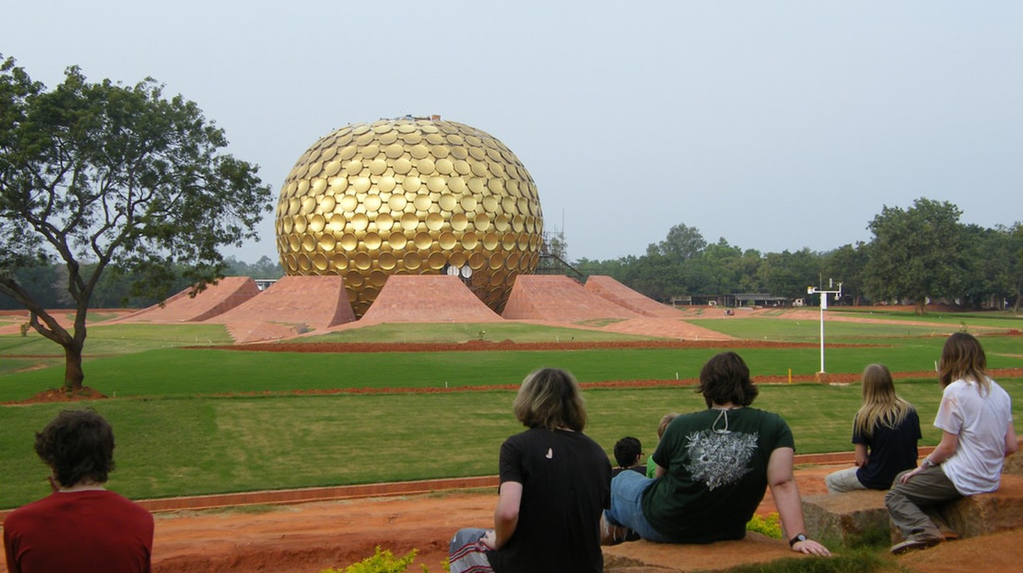 The Matrimandir is strategically located to act as the centre of the Auroville township | © sillybugger/WikiCommons
