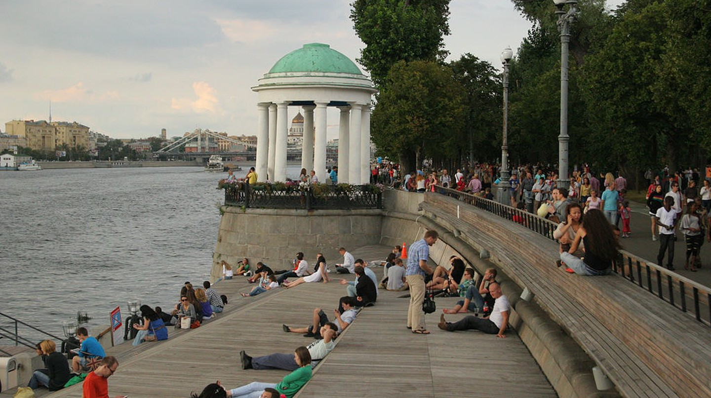 The river bank in Gorky Park