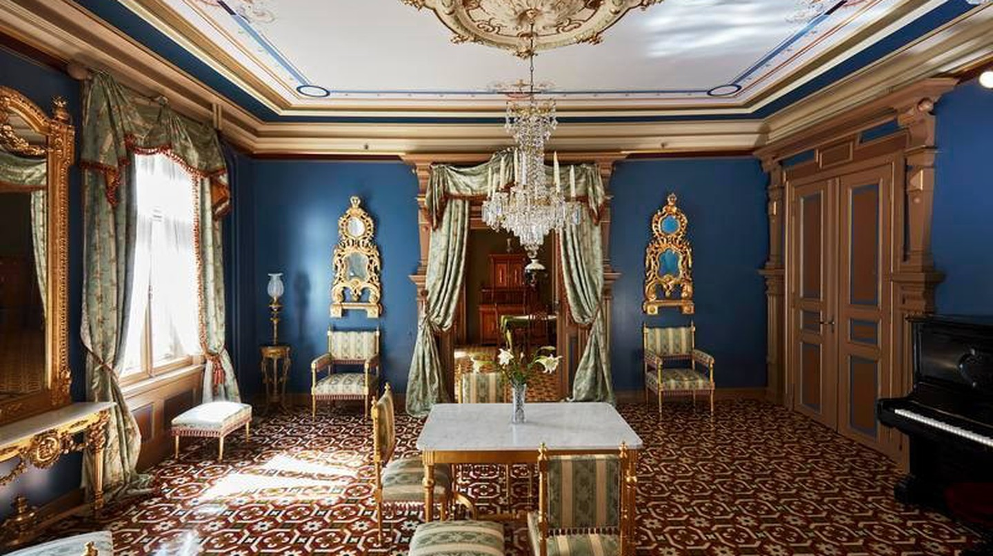 The blue parlour in Henrik Ibsen's home