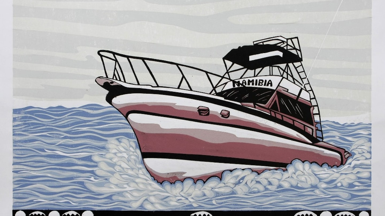 "Kandjengo Lok, ""Namibian Boat Seasons"" | Courtesy of Guns & Rain"