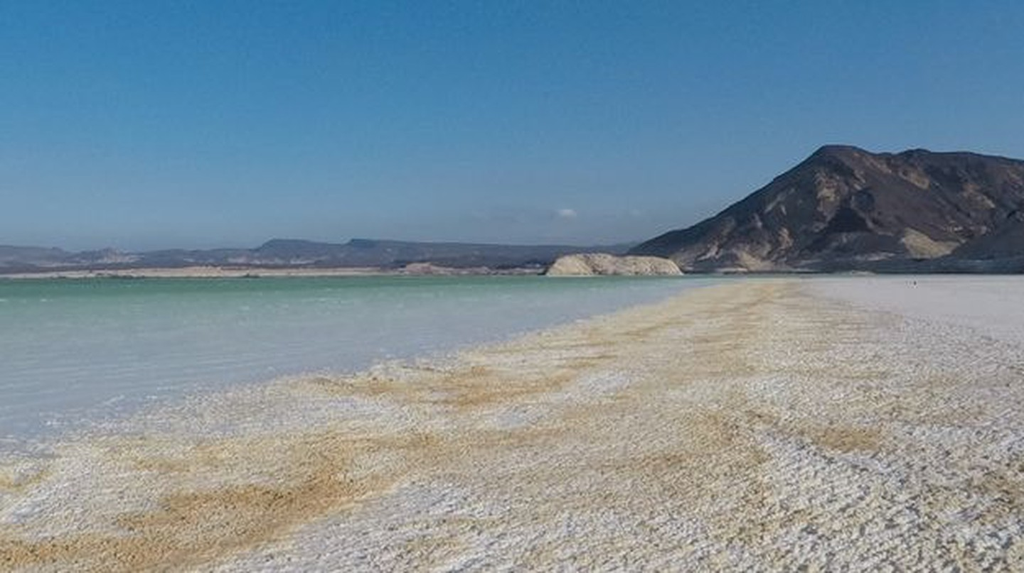 Lake Assal and the volcanic mountains beside, Djibouti |  Zineb Boujrada / The Culture Trip
