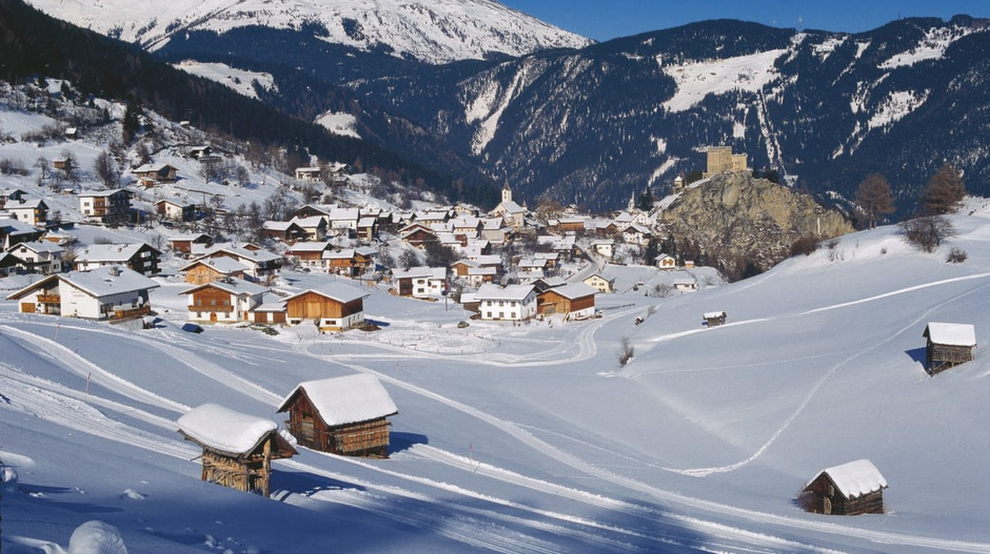 Cabins in the snow in Tyrol