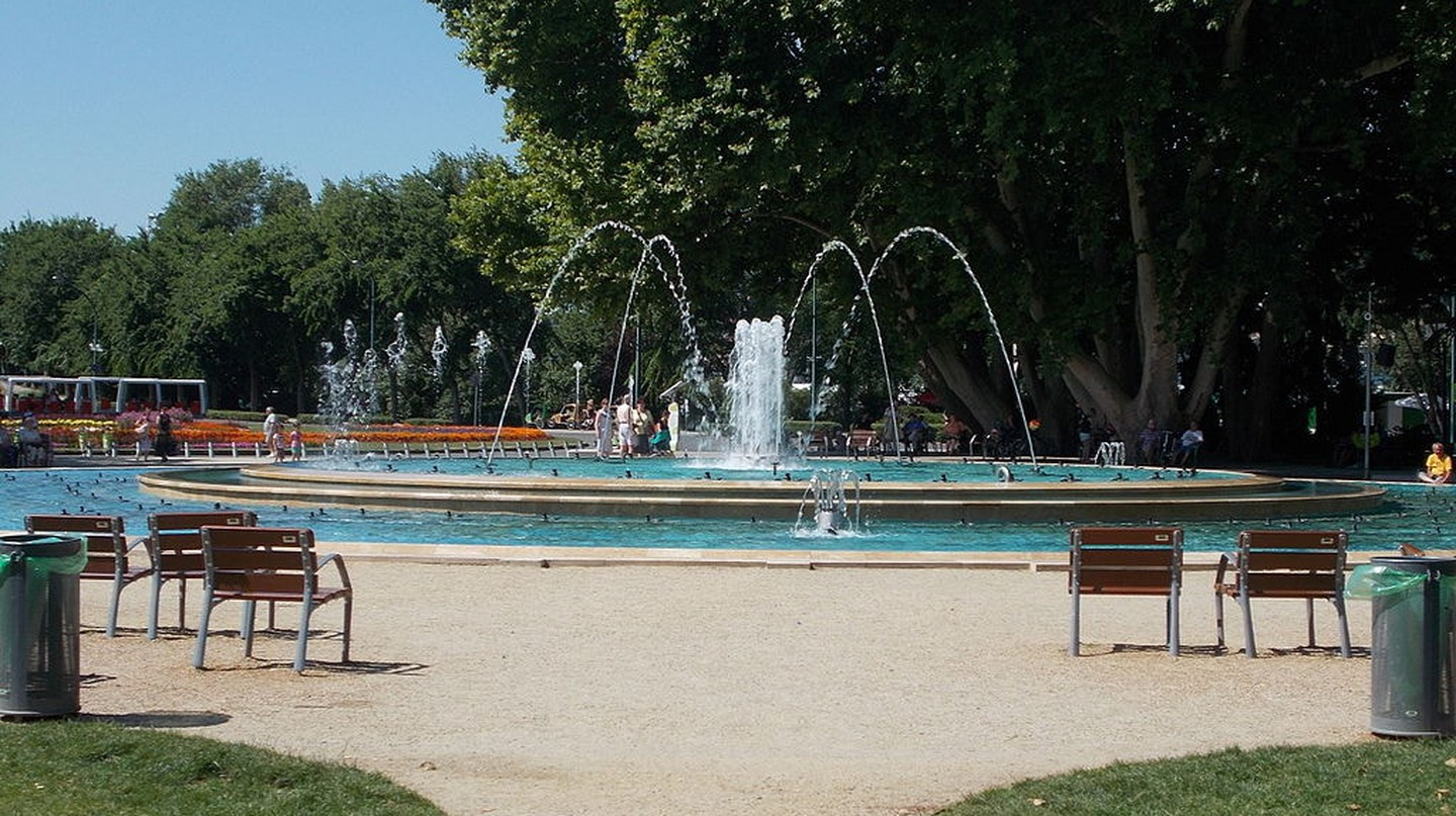 Musical fountain at Margaret Island
