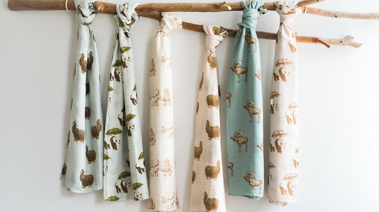 Bamboo Swaddle Blankets by Milkbarn | (c) Raine Chism/Milkbarn