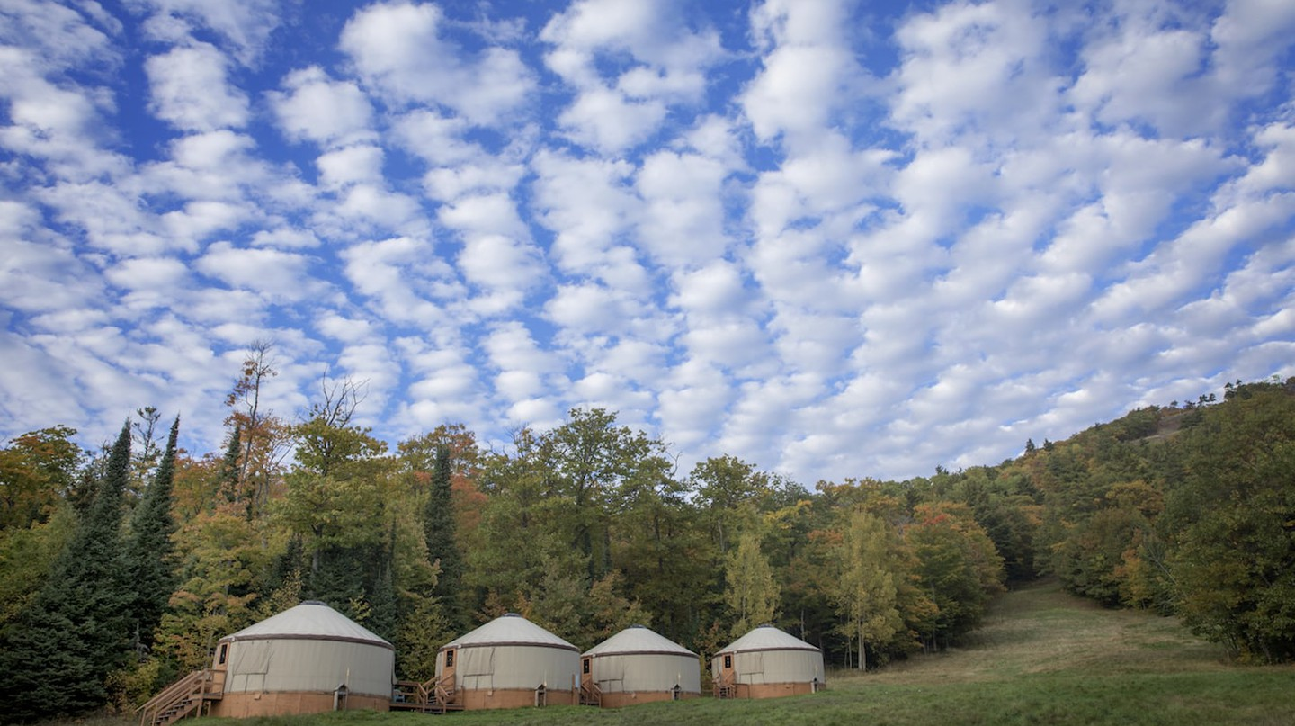 Mount Bohemia Yurts | Courtesy of Mount Bohemia Adventure Resort