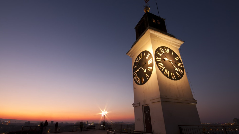 Petrovaradin's unusual clock