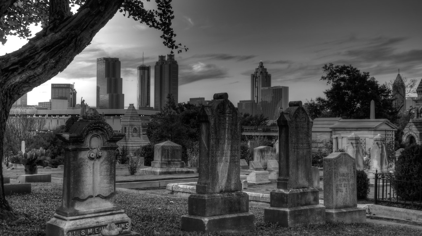 Tombs at historic Oakland Cemetery