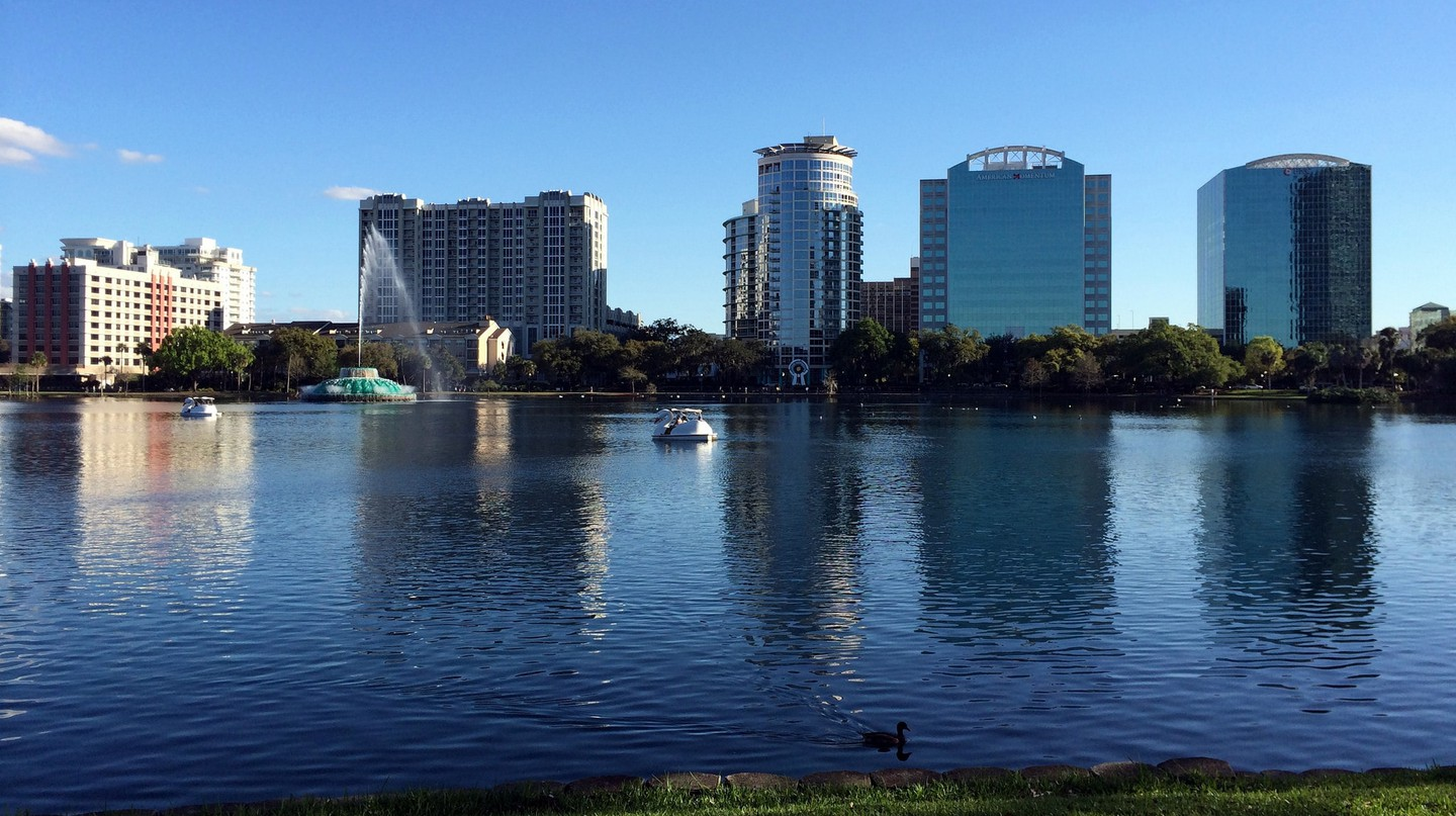 Lake Eola, downtown Orlando, Florida.