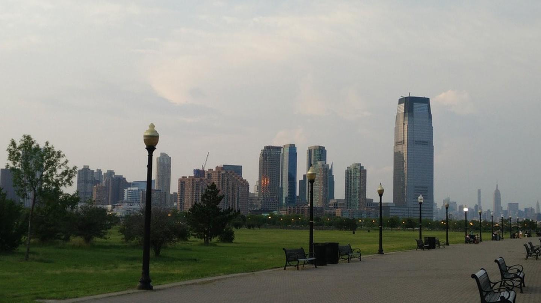 Park Jersey City Skyline Liberty State Park Walk