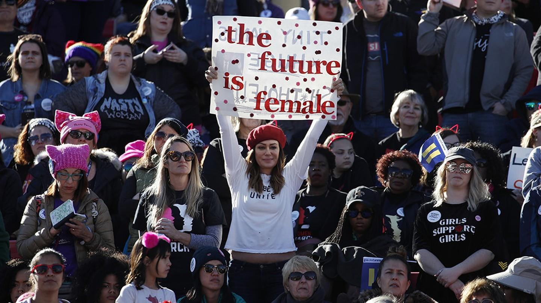 People cheer during a women's march rally, Las Vegas | © John Locher/AP/REX/Shutterstock