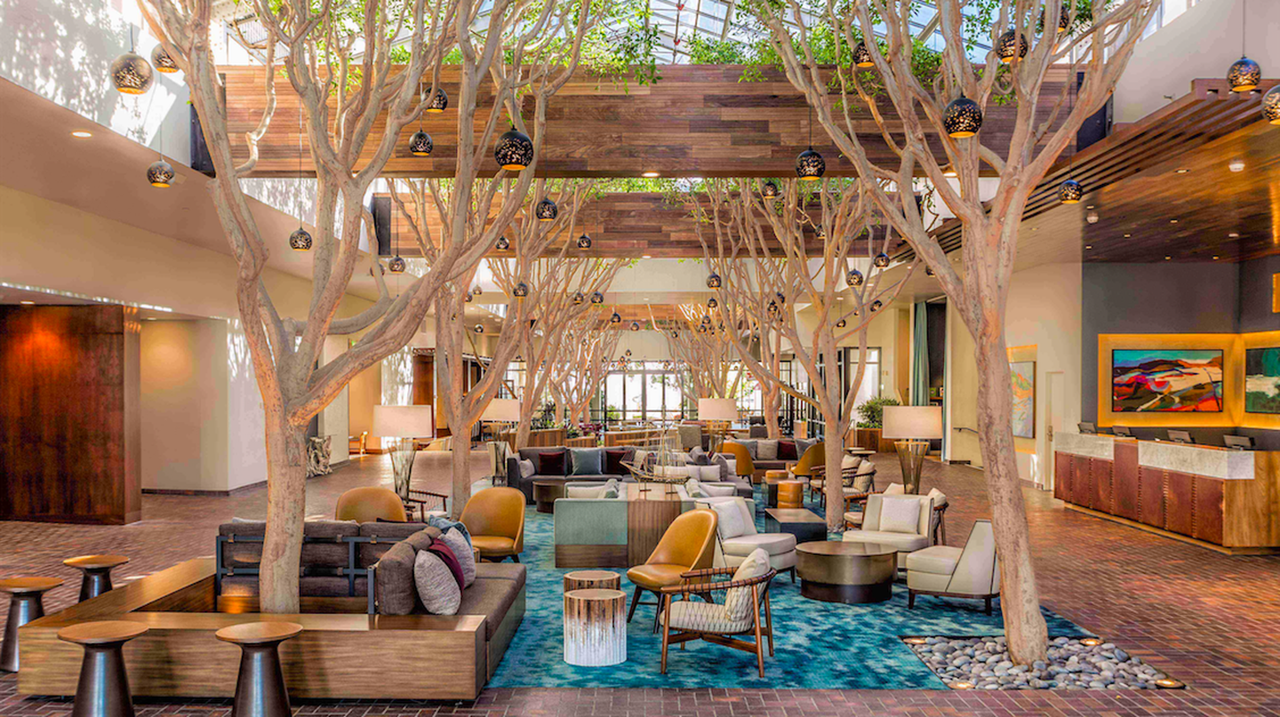 The lobby at the Portola Hotel and Spa in Monterey, CA © Portola Hotel & Spa