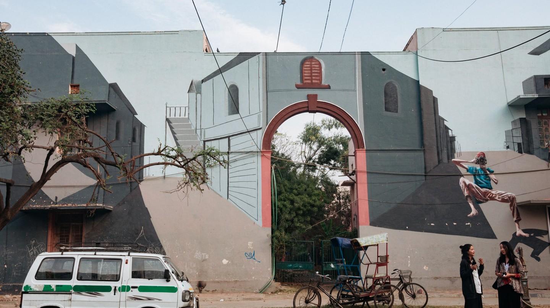 Vivid street art in the heart of Delhi