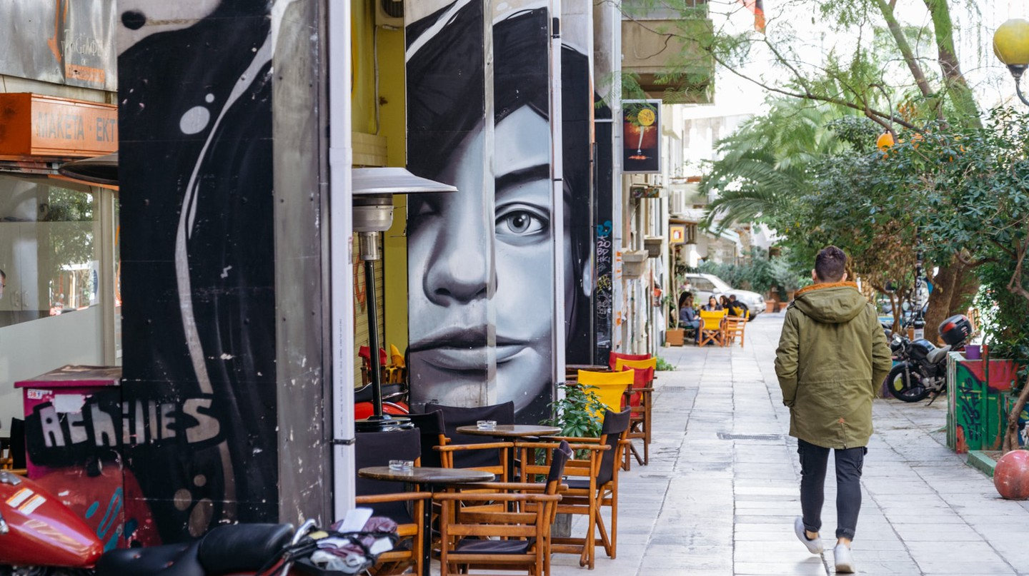 In the streets of Exarchia