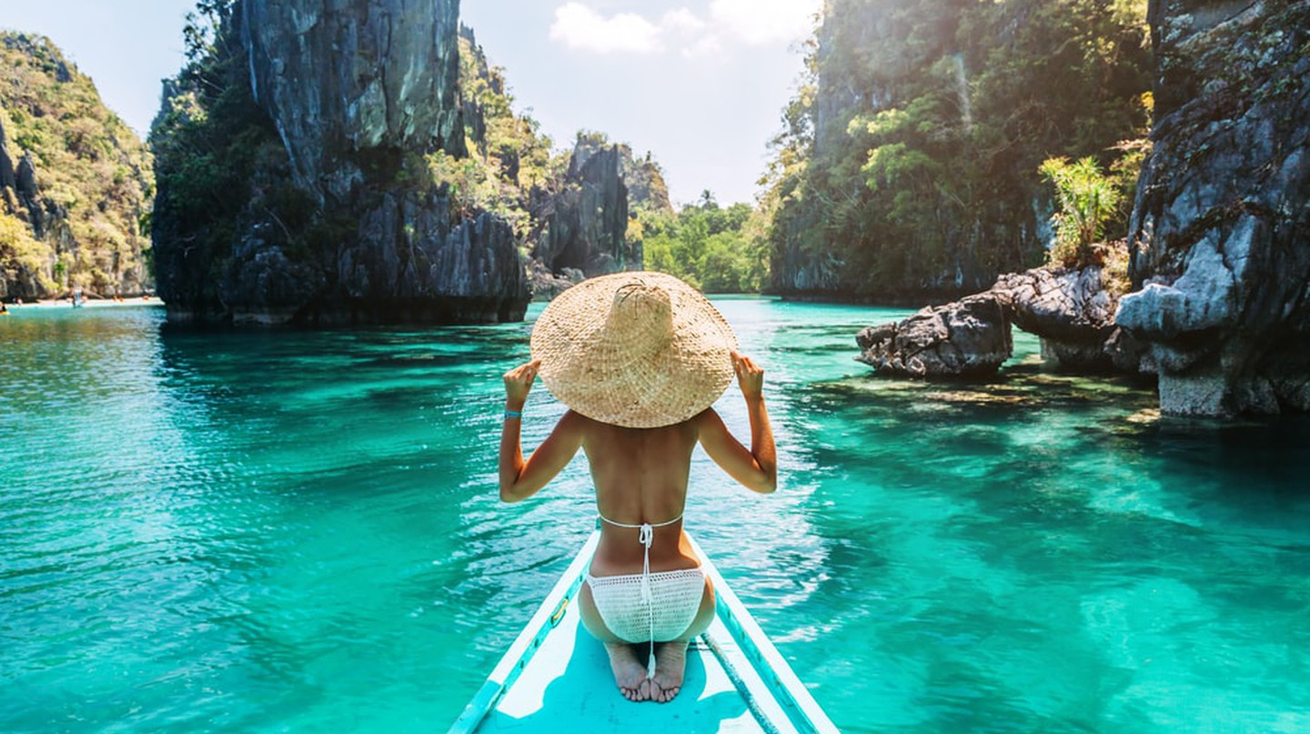Woman on a tour in Palawan, Philippines