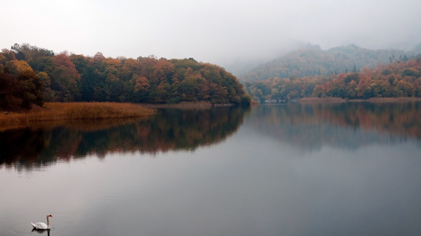 Foggy view of Lake Goygol | © Polad Gasimov/Shutterstock