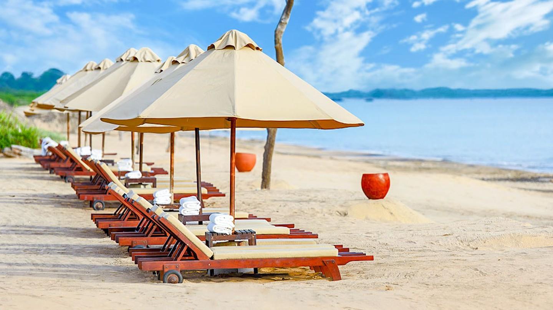 Beach sunbed at Uga Jungle Beach   Courtesy of Uga Jungle Beach