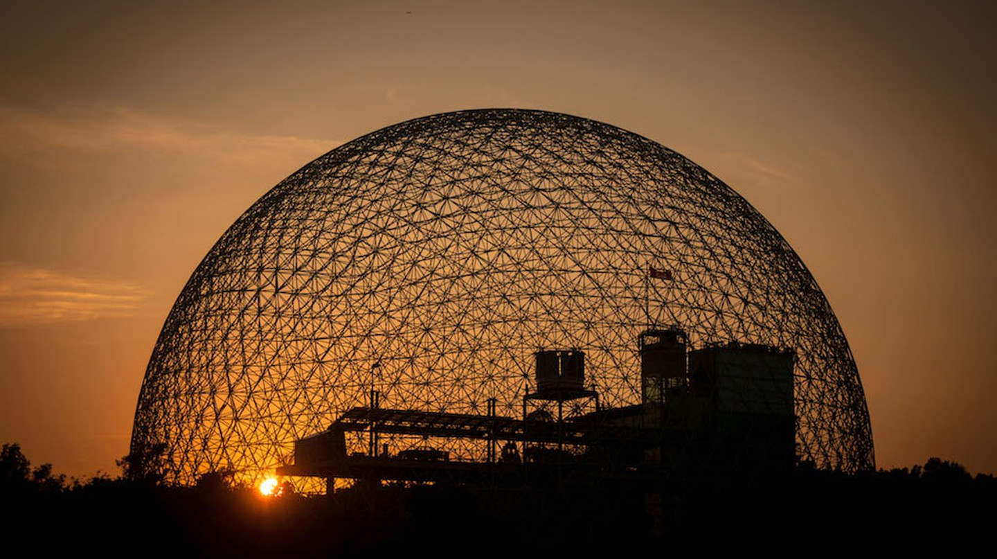 A sunset view of Montreal's Biosphère | © Guilhermeduartegarcia / WikiCommons