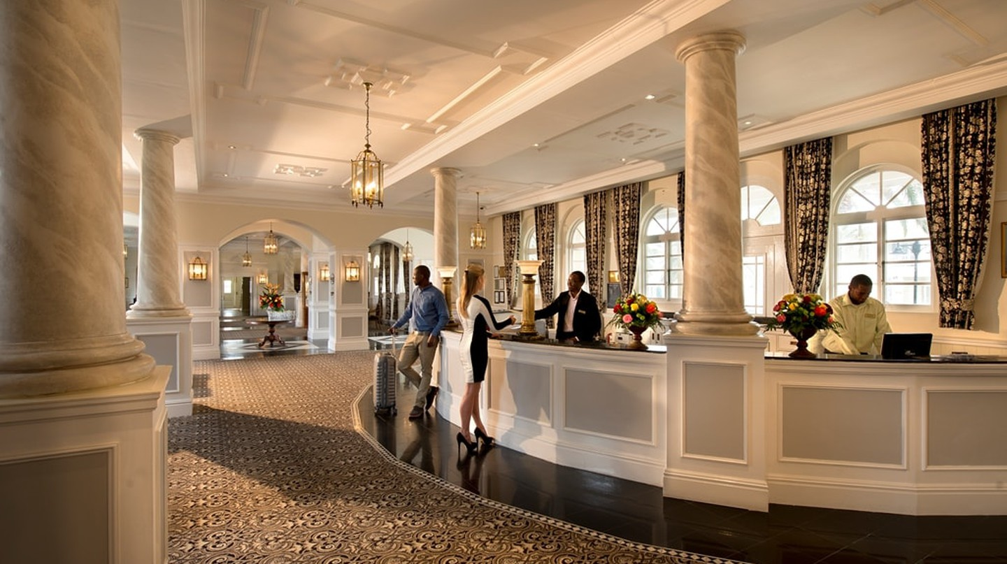 Swakopmund Hotel & Entertainment Centre reception | Courtesy of Swakopmund Hotel & Entertainment Centre
