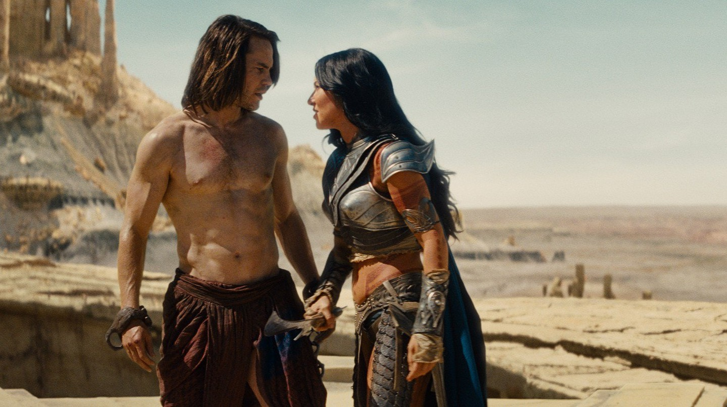 John Carter (Taylor Kitsch), Dejah Thoris (Lynn Collins) | © Disney Enterprises, Inc.