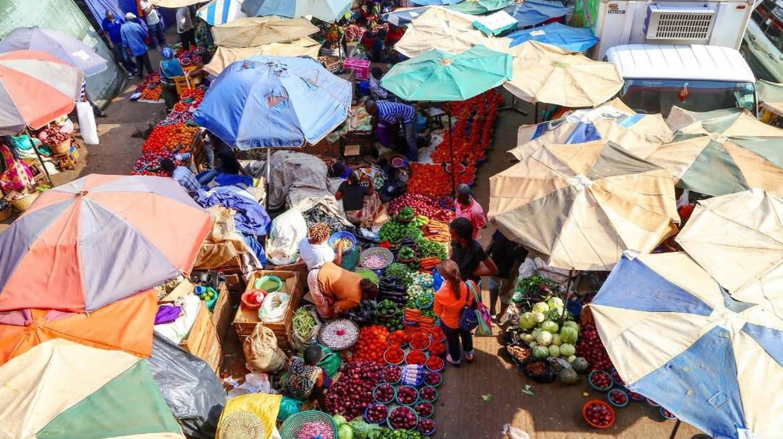 A farmers' market in Nakawa, Kampala