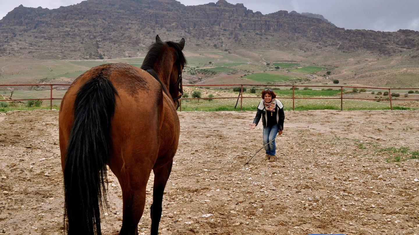 Sandra Jelly with the horses | © Sophia Charalambous / Culture Trip
