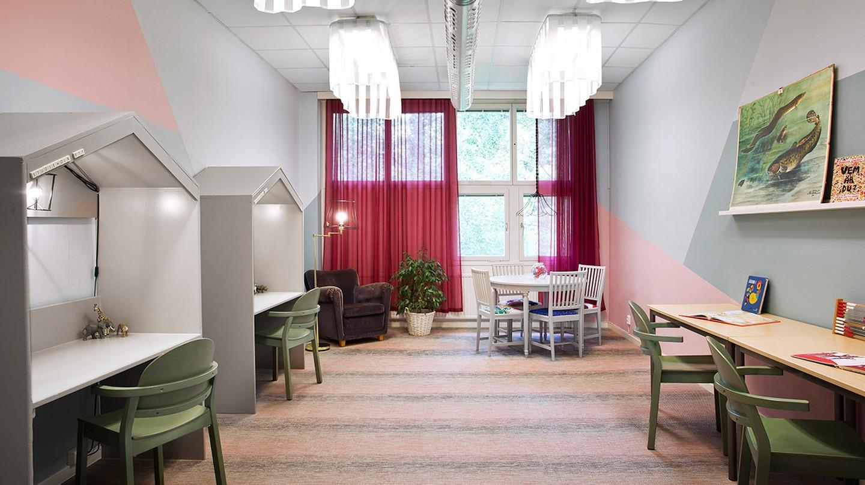 A beautifully designed study room | Photo: Björn Petrén / Courtesy of We Unite Design
