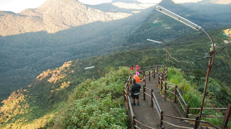 The steps on Adam's Peak