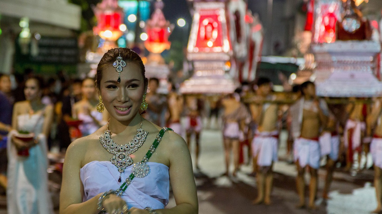 Procession for Loy Krathong, a popular Thai festival | © Stefan Magdalinski / Flickr