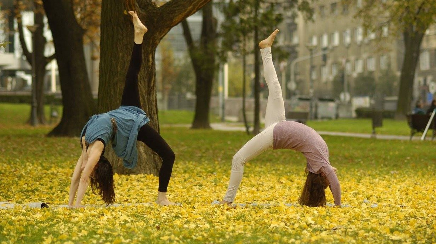 Stretching in the parks of Belgrade
