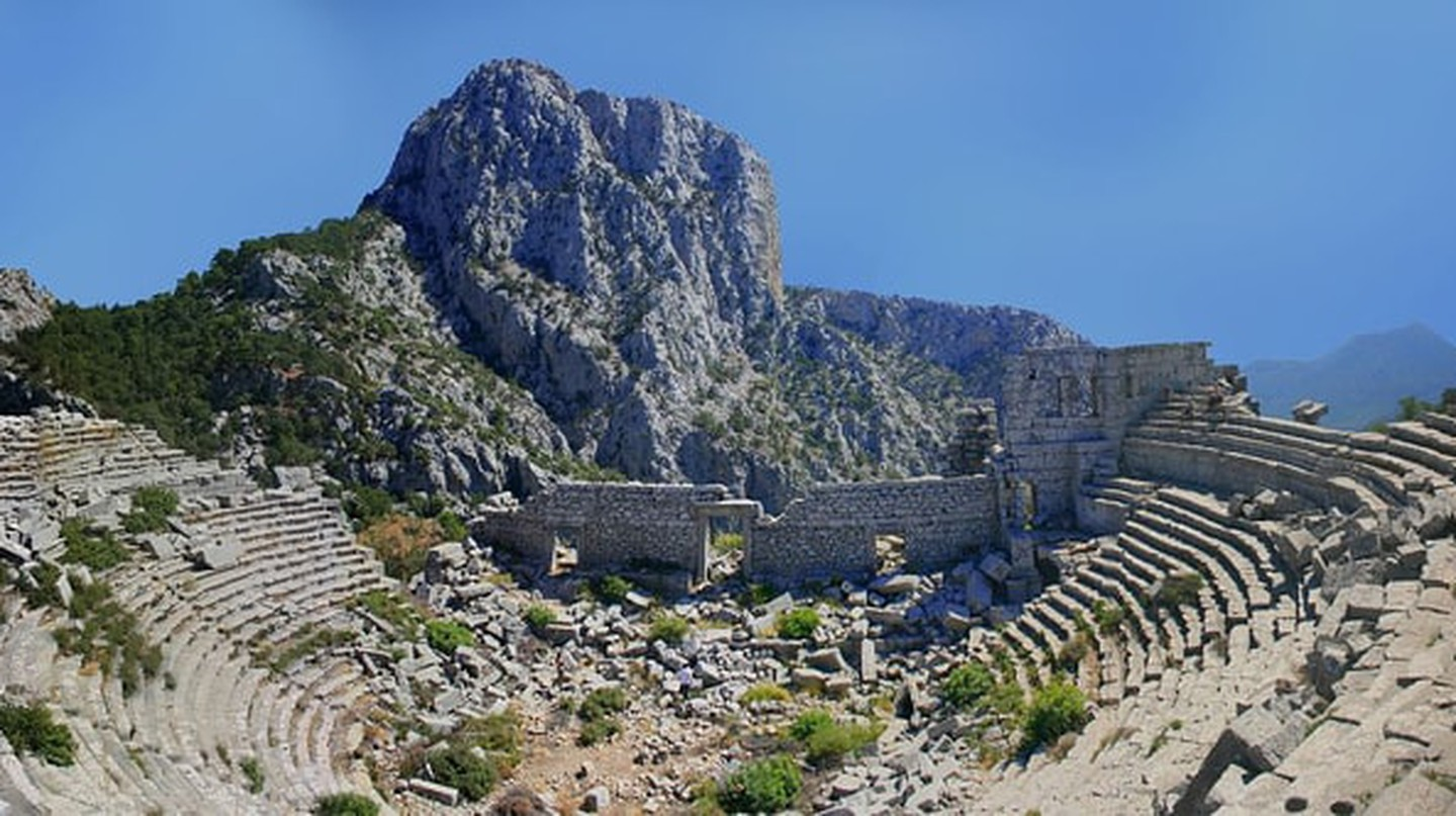 A panorama of the famous Termessos theater