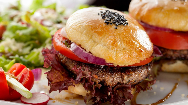 A vegan burger from Radost Fina Kuhinjica