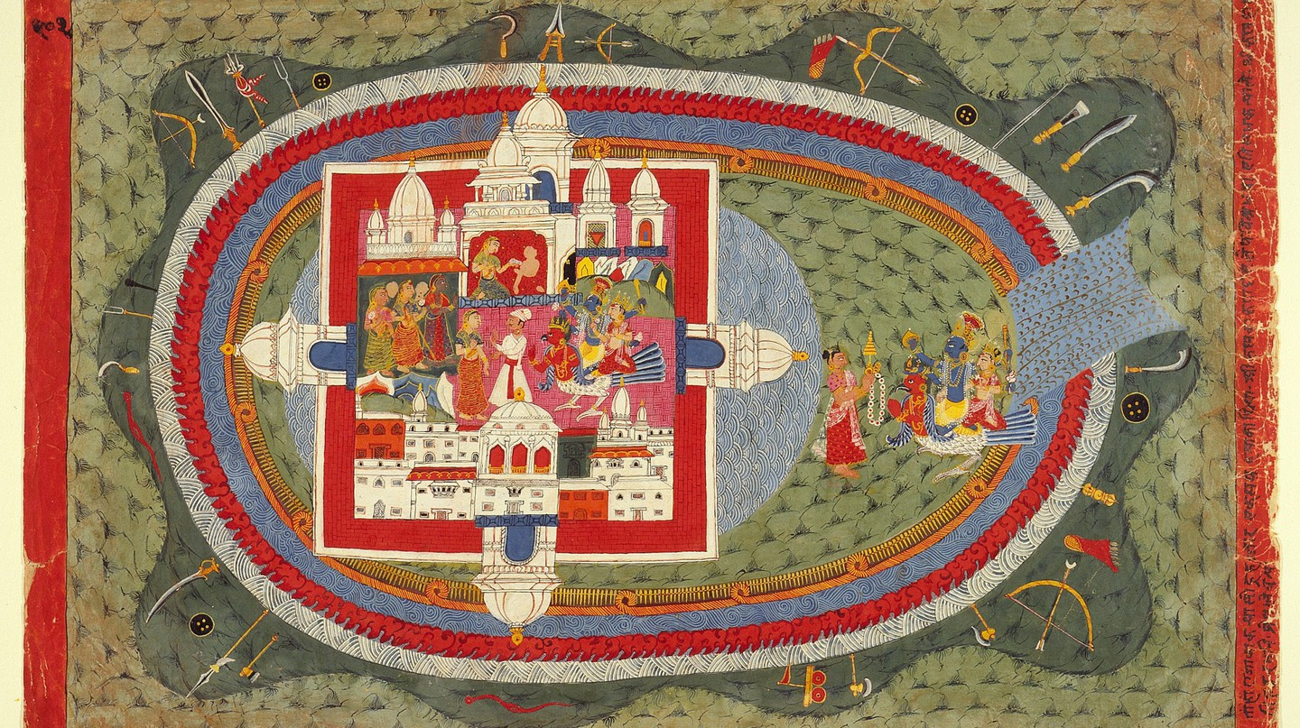 Scenes from the Story of Narakasura, Folio from a Bhagavata Purana | © Ashley Van Haeften / Flickr